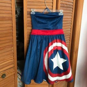 Captain America Shield Halter Dress